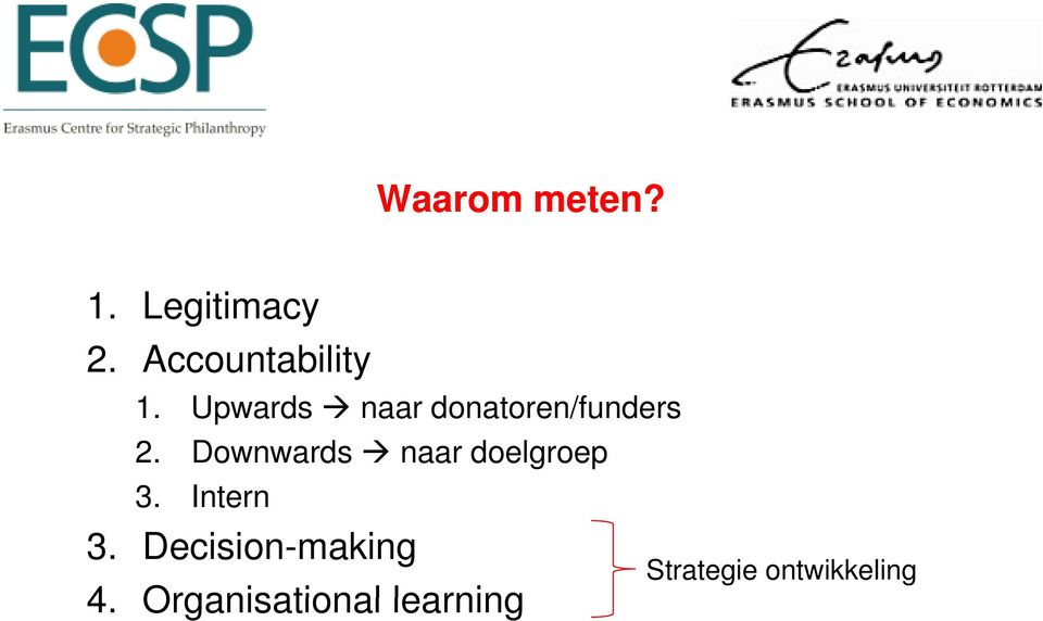 Upwards naar donatoren/funders 2.