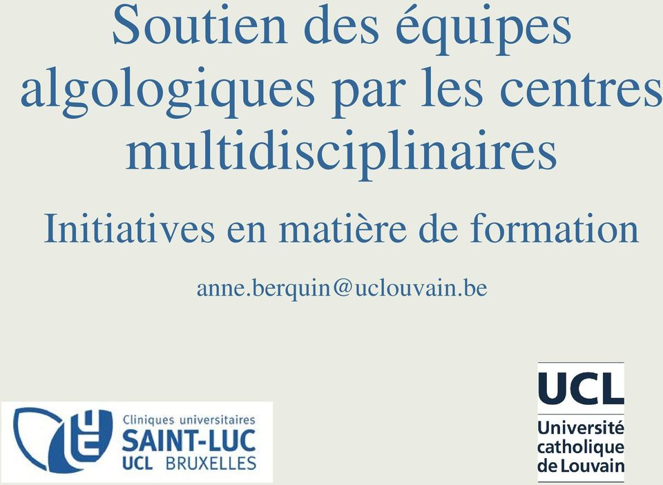 multidisciplinaires Initiatives