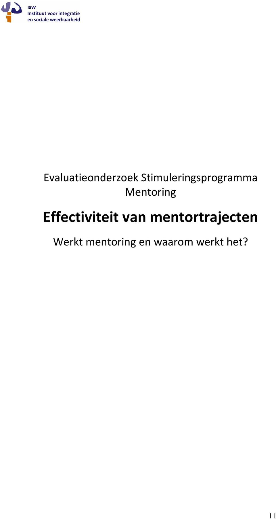 Mentoring Effectiviteit van
