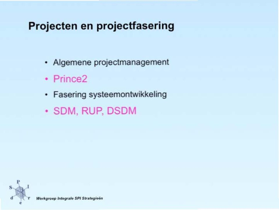 Prince2 Fasering