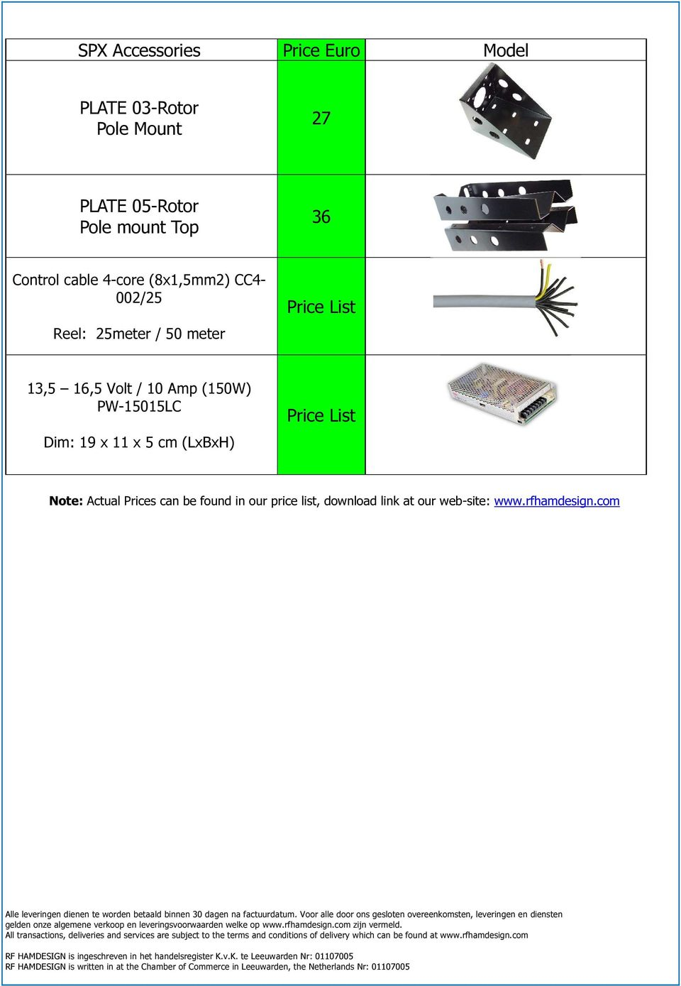 16,5 Volt / 10 Amp (150W) PW-15015LC Dim: 19 x 11 x 5 cm (LxBxH) Price List Note: Actual