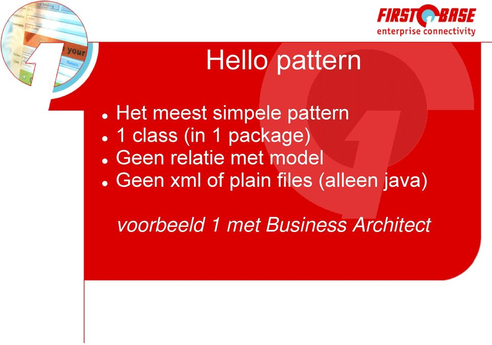 model Geen xml of plain files (alleen