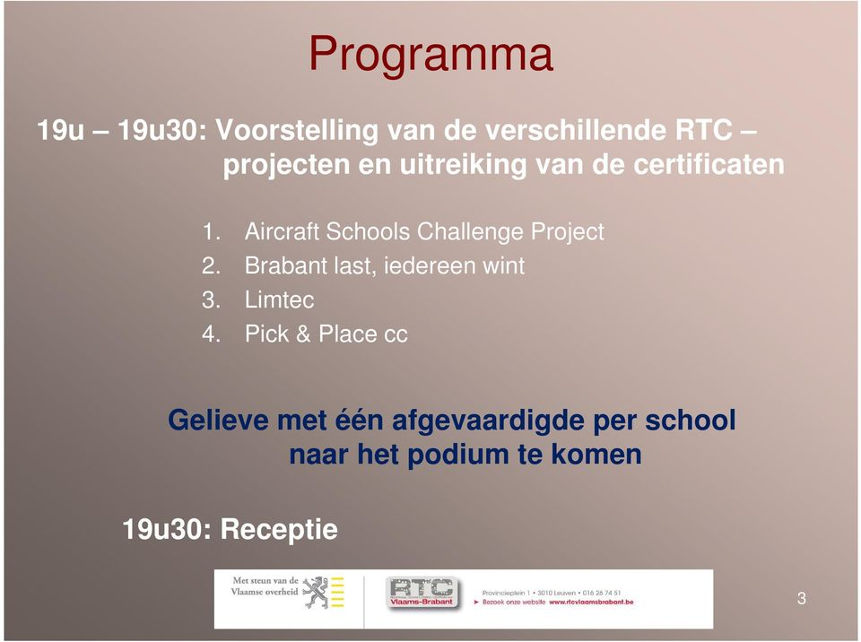 Aircraft Schools Challenge Project 2. Brabant last, iedereen wint 3.