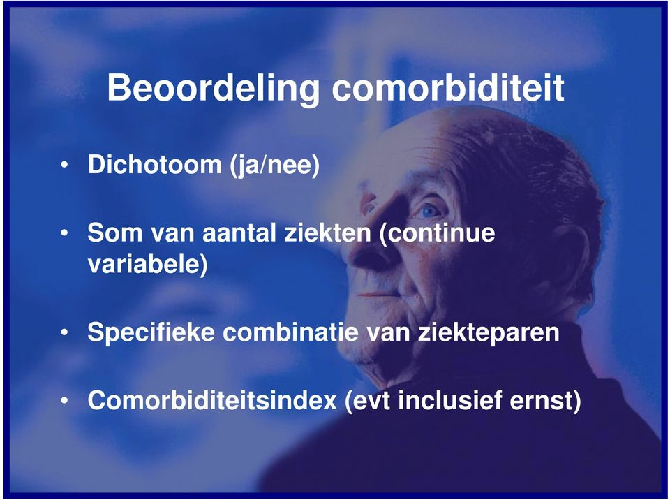 variabele) Specifieke combinatie van