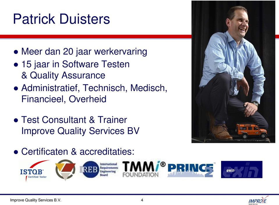 Medisch, Financieel, Overheid Consultant & Trainer Improve
