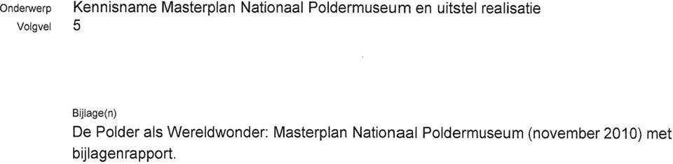 Masterplan Nationaal