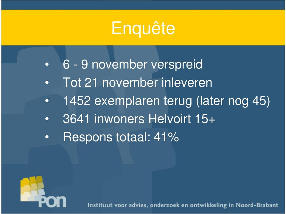 exemplaren terug (later nog 45)