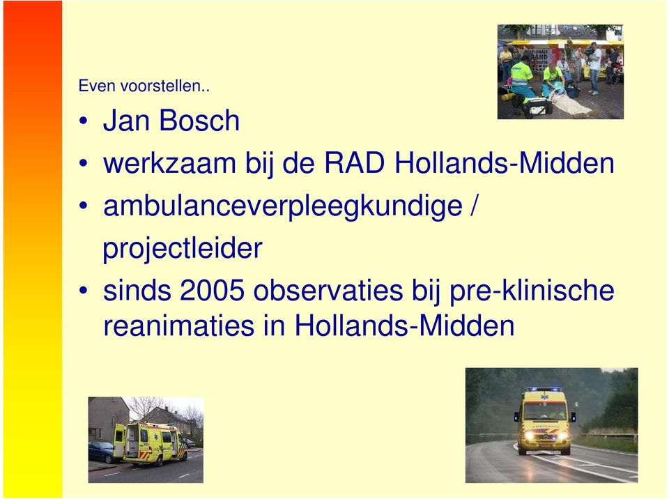 Hollands-Midden ambulanceverpleegkundige /