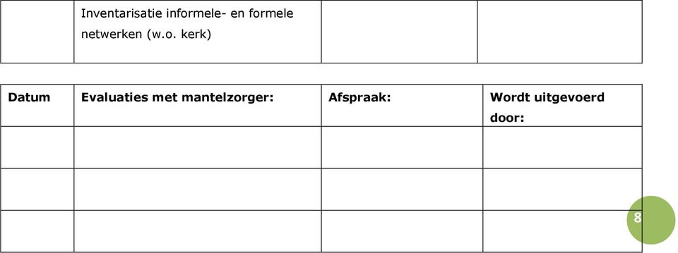 Datum Evaluaties met
