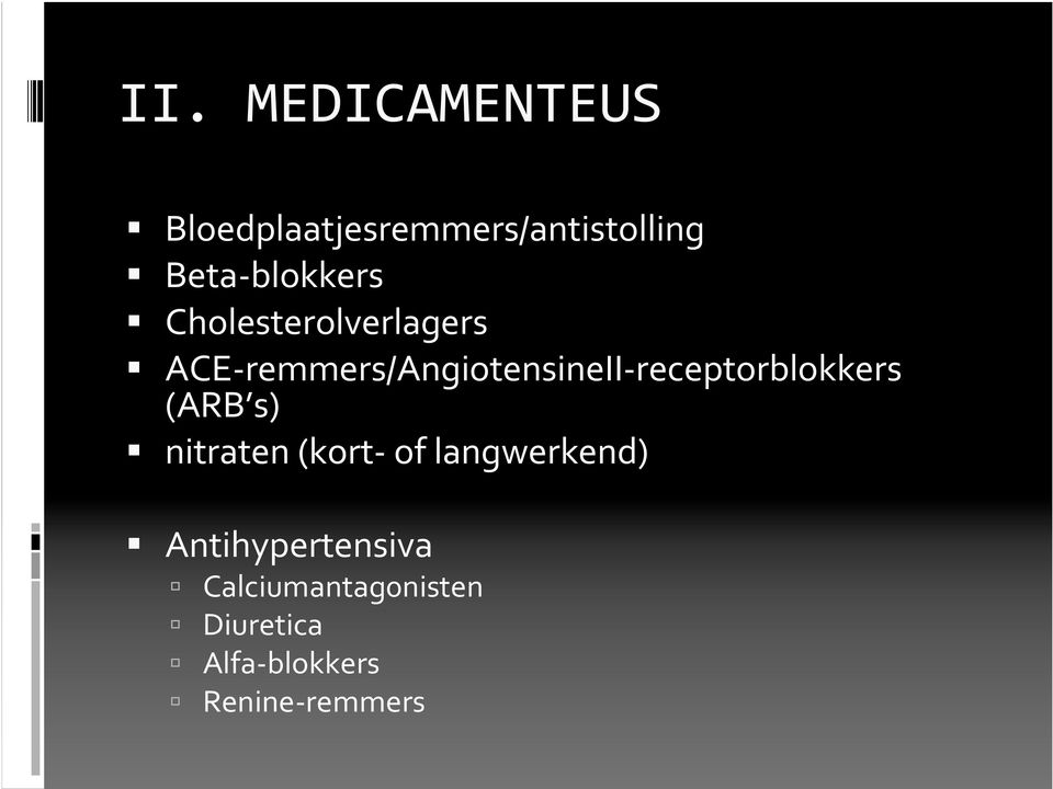ACE-remmers/AngiotensineII-receptorblokkers (ARB s) nitraten