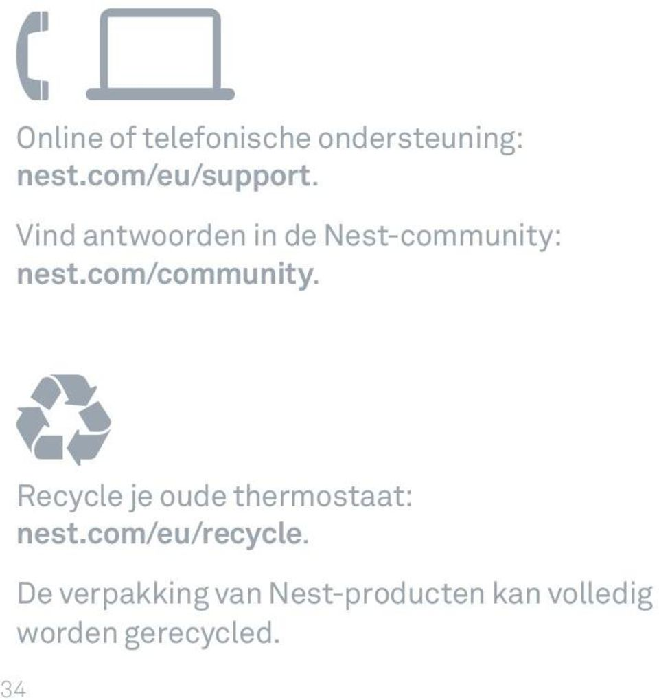 Recycle je oude thermostaat: nest.com/eu/recycle.
