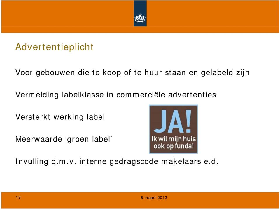 advertenties Versterkt werking label Meerwaarde groen label