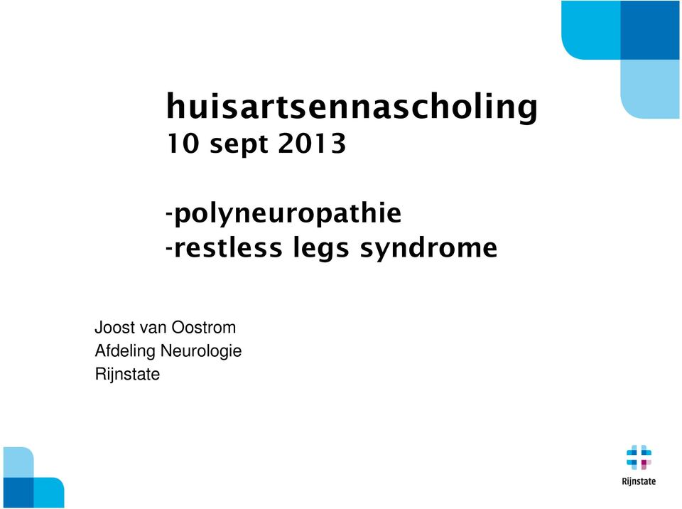 -restless legs syndrome Joost