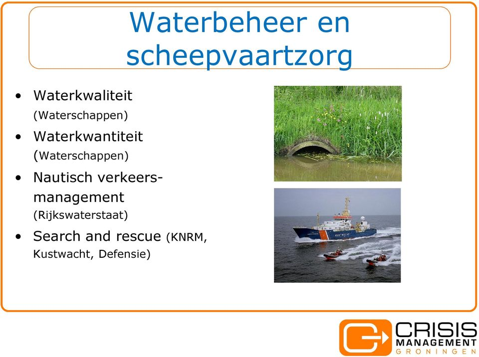 (Rijkswaterstaat) Search and rescue (KNRM,