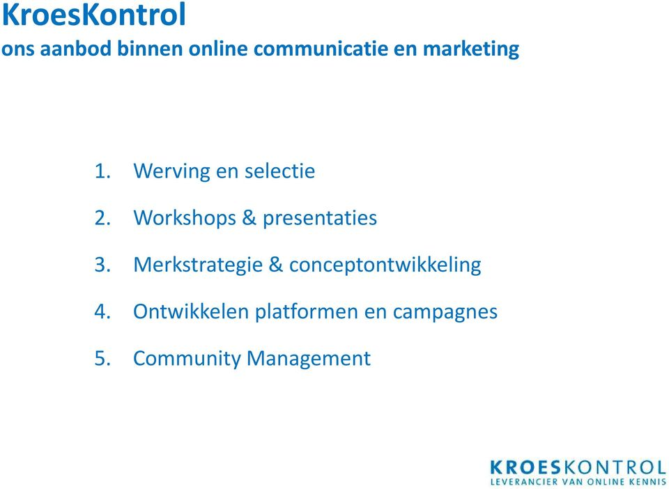 Workshops & presentaties 3.