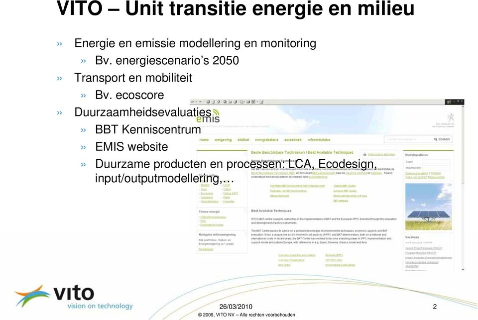 ecoscore» Duurzaamheidsevaluaties» BBT Kenniscentrum» EMIS website»