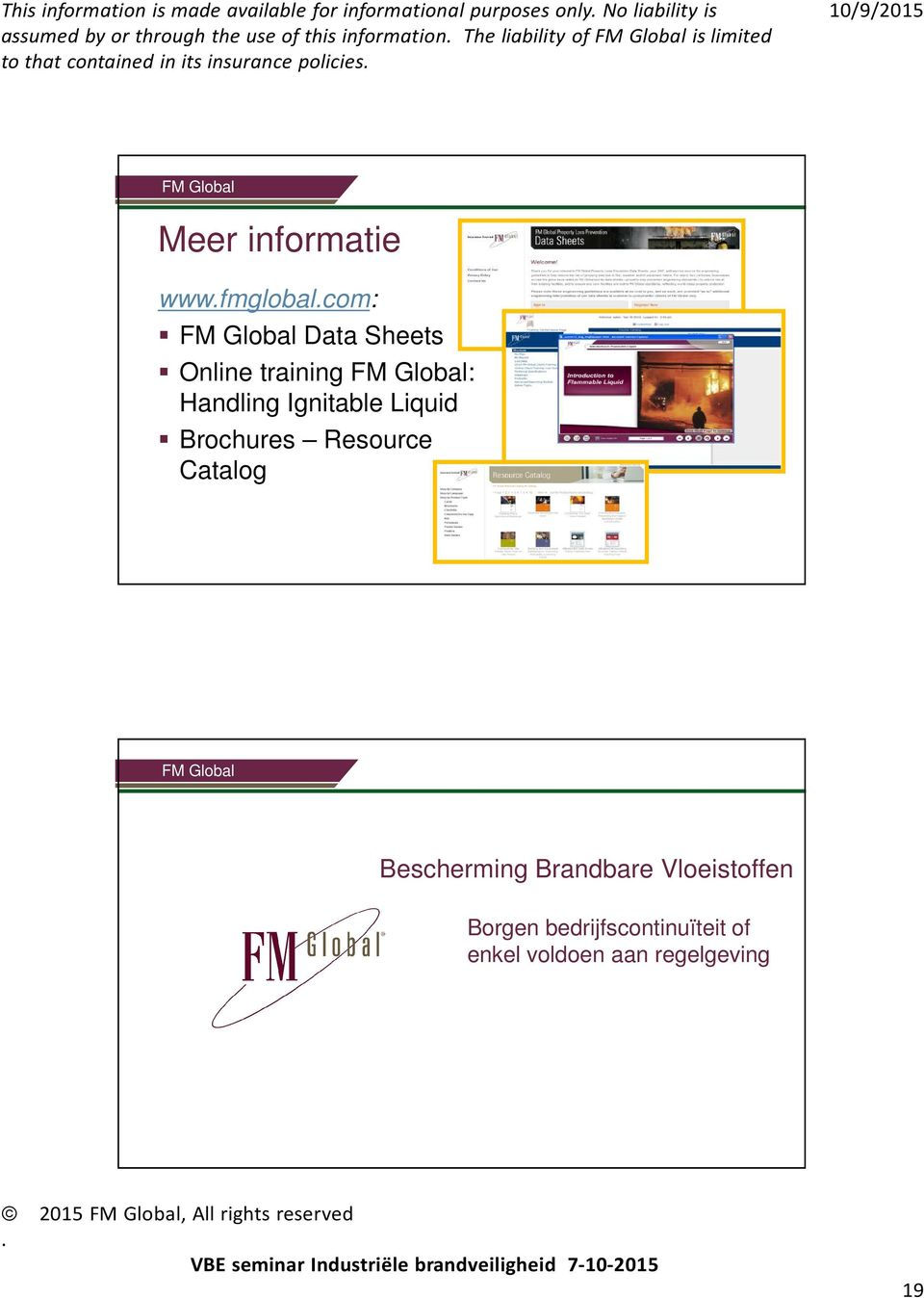 training : Handling Ignitable Liquid Brochures Resource Catalog Bescherming Brandbare