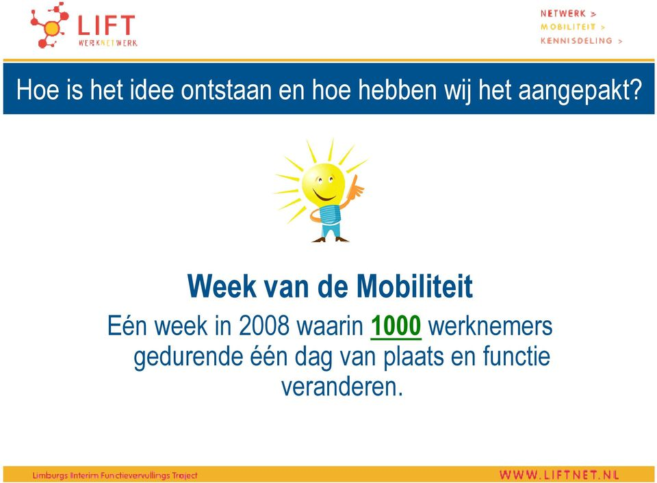 Week van de Mobiliteit Eén week in 2008