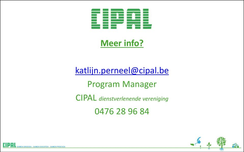 be Program Manager CIPAL