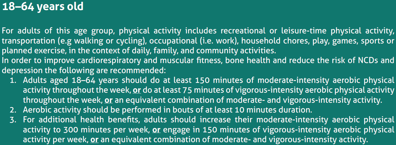 Cycling for commuting Physical activity WHO: Physical Inactivity is 4th leading
