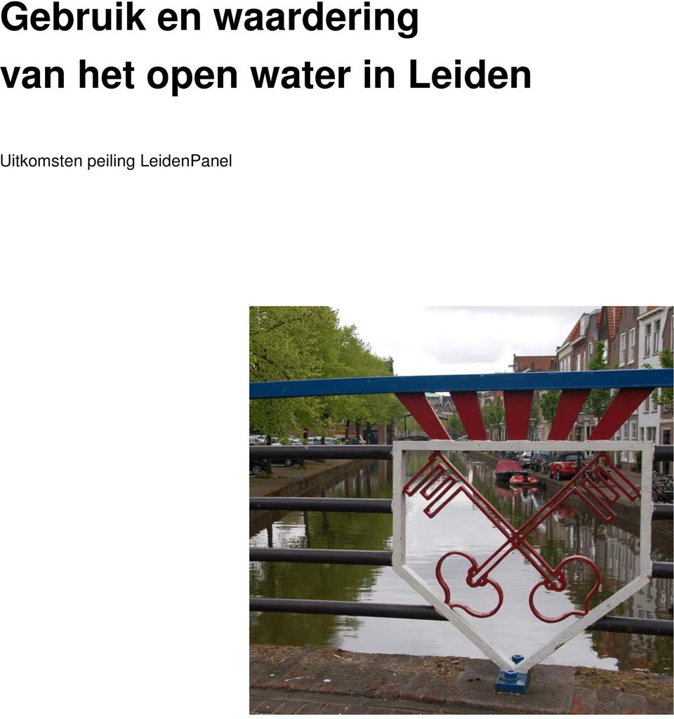 open water in Leiden