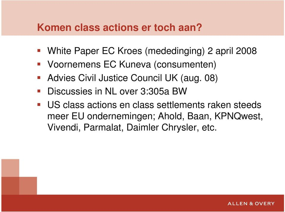 (consumenten) Advies Civil Justice Council UK (aug.