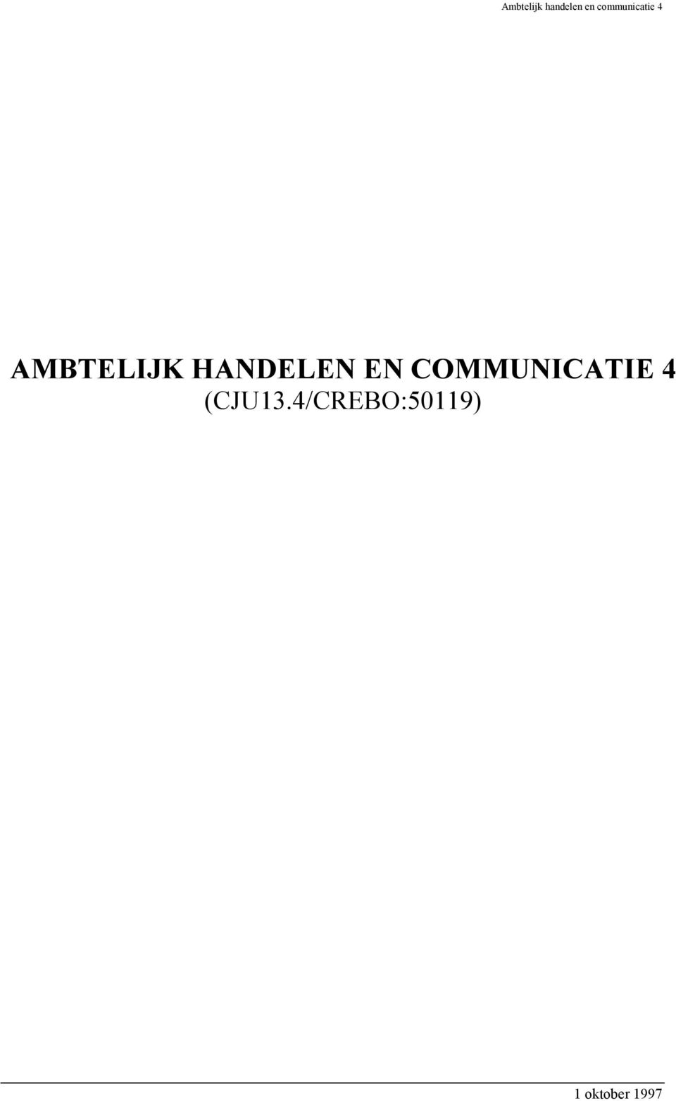 COMMUNICATIE 4