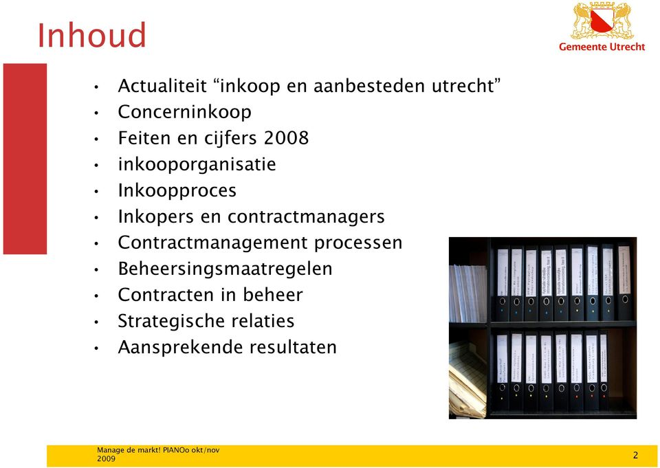contractmanagers Contractmanagement processen