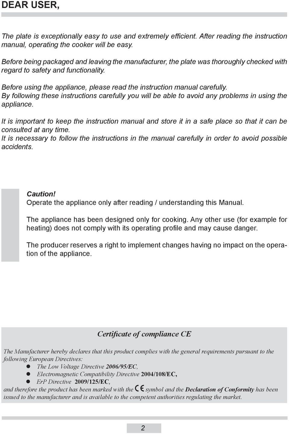 operation and maintenance manual table of contents