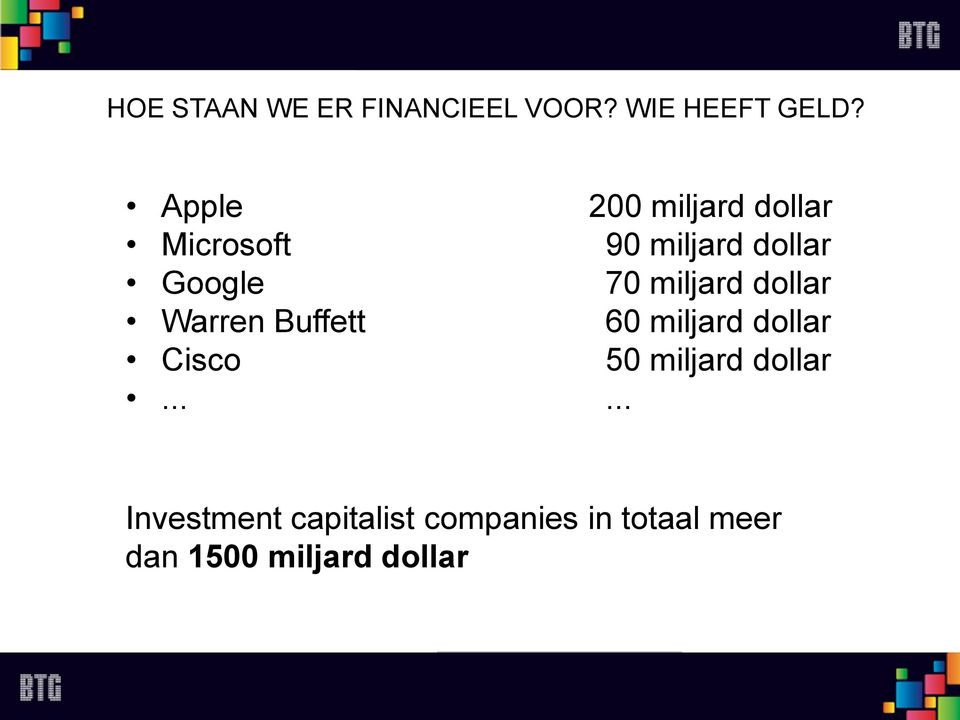 miljard dollar Warren Buffett 60 miljard dollar Cisco 50 miljard