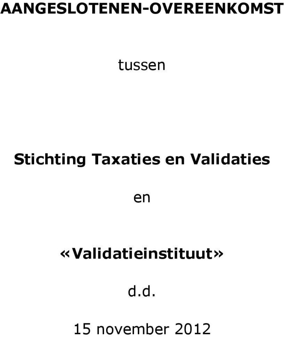 en Validaties en