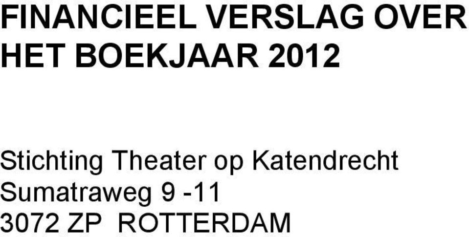 Stichting Theater op