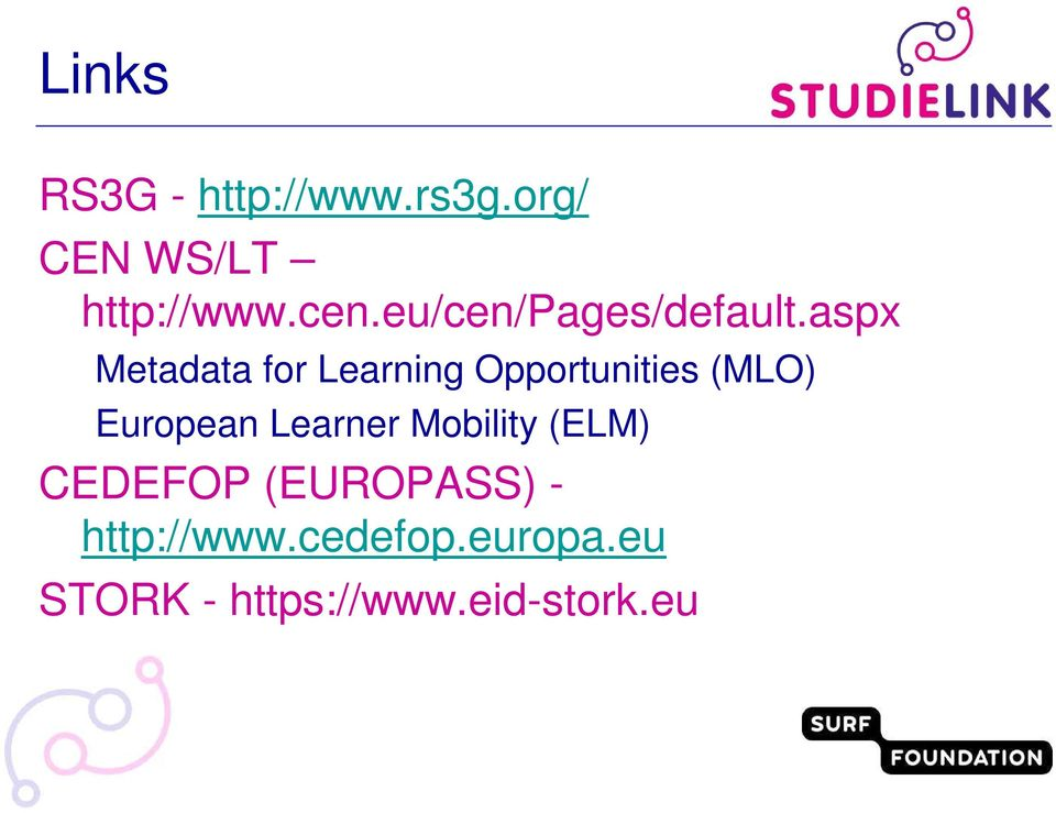 aspx Metadata for Learning Opportunities (MLO) European