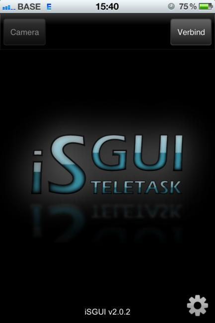 2.2.4 isgui U kan nu de isgui applicatie openen en