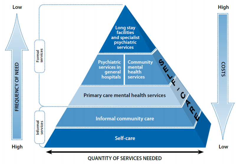 WHO Service Organization Pyramid for an