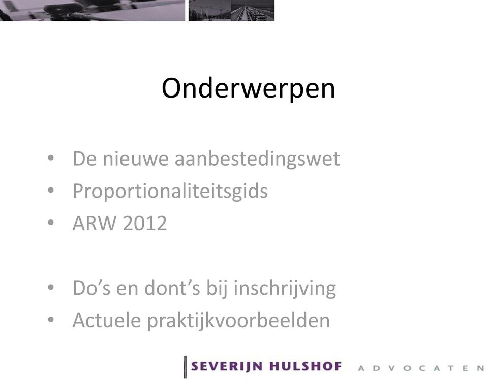 Proportionaliteitsgids ARW 2012
