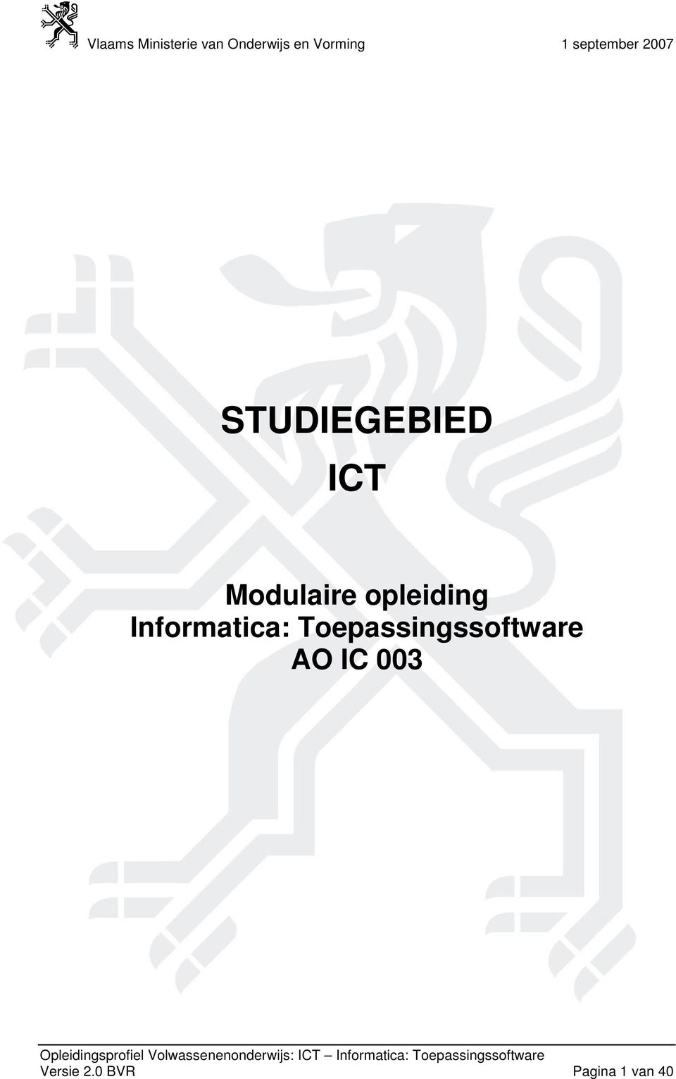 Toepassingssoftware AO IC