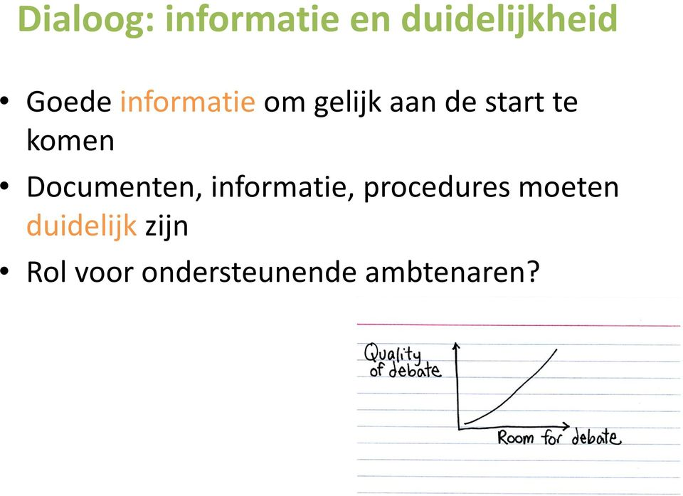Documenten, informatie, procedures moeten