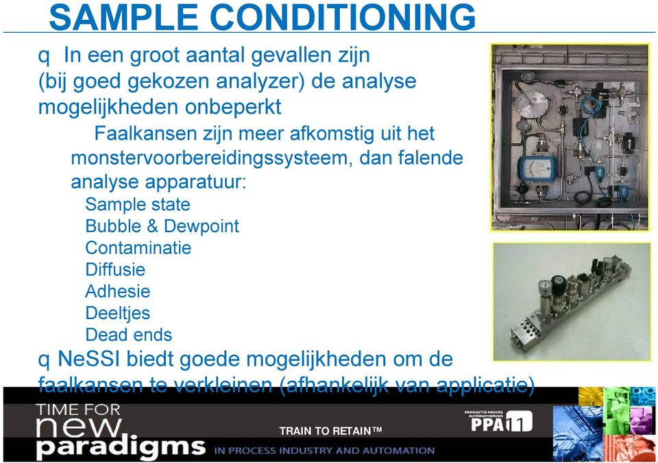 falende analyse apparatuur: Sample state Bubble & Dewpoint Contaminatie Diffusie Adhesie Deeltjes