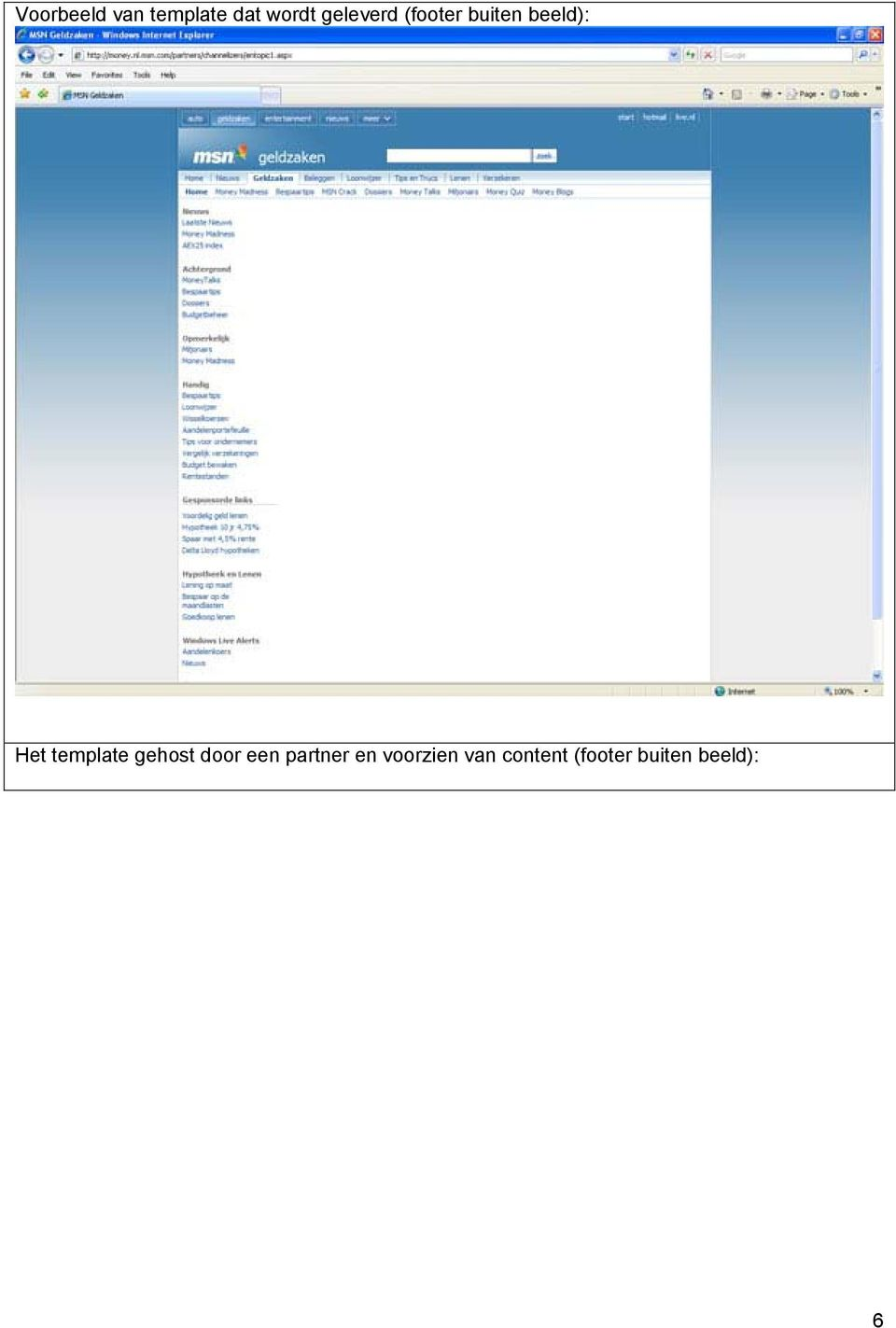 template gehost door een partner en