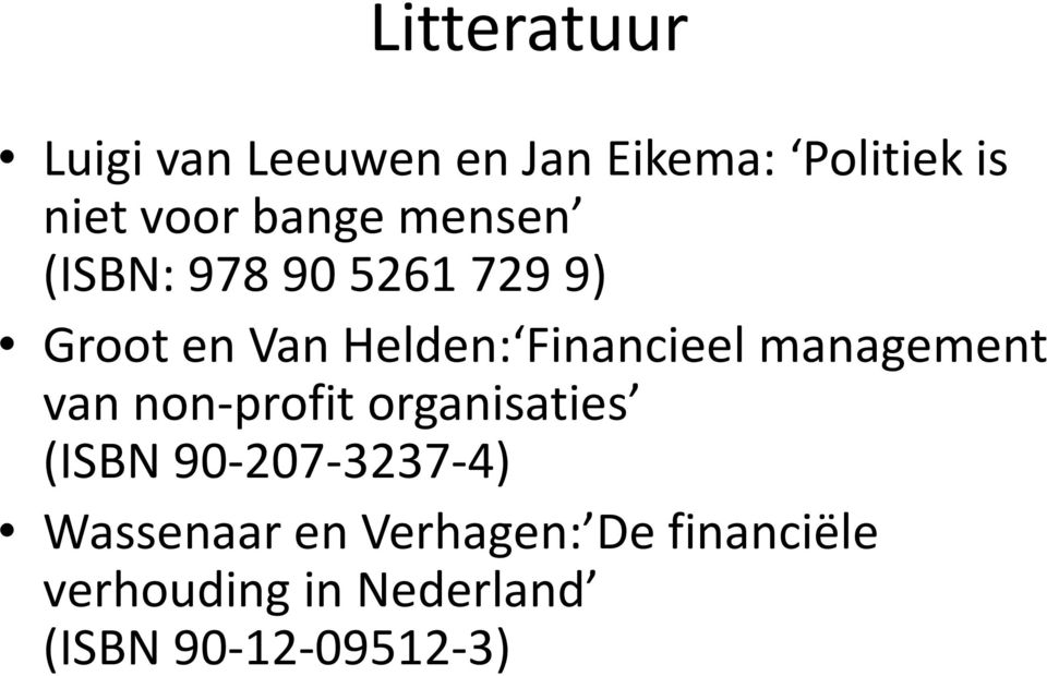 management van non-profit organisaties (ISBN 90-207-3237-4)