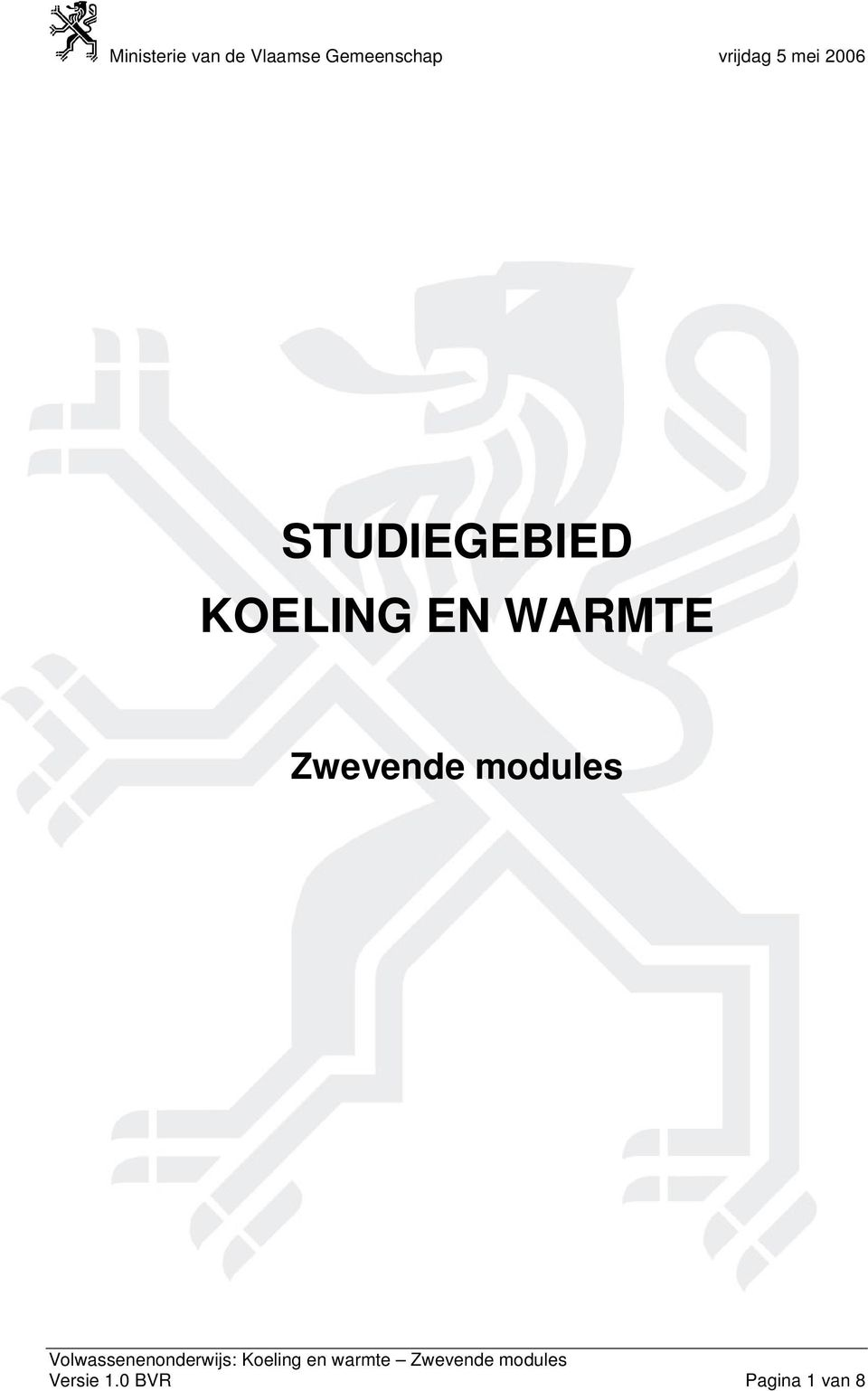 Zwevende modules
