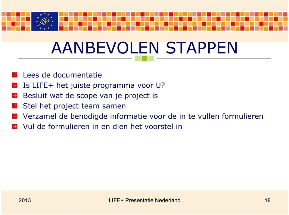 Besluit wat de scope van je project is Stel het project team