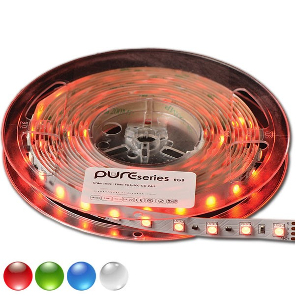 PURE SERIE RGB/RGBW RGB/RGBW full Color LED strip, 5000 x 10 x 3 mm LED SMD3528PRO, 50.