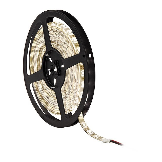 LEDS-B IP00 Flexible LED strips, 5000 x 8 x 4 mm LED SMD 0,08W, 15000 uur, stralingshoek 120 60 LEDS, 4,8W p/m Om de 3 LED (50 mm) in te korten op de aangegeven markeringen Montage door plakstrip aan