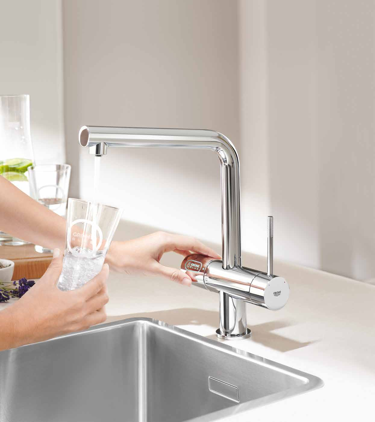 CHILLED & SPARKLING GROHE BLUE GROHE Blue Chilled & Sparkling Puur water.