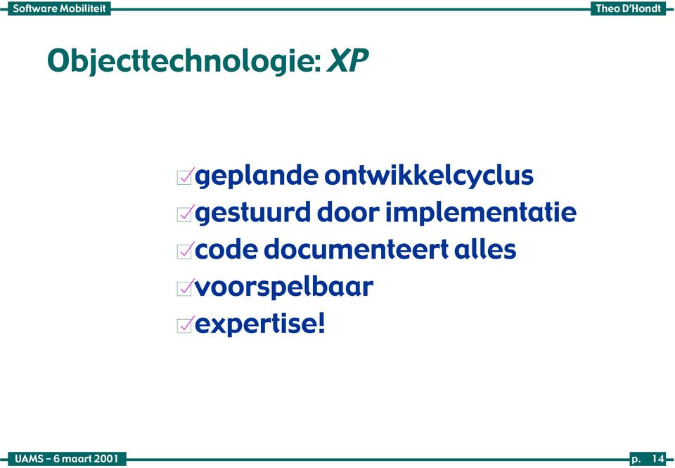 implementatie code documenteert