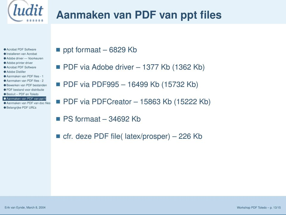 PDFCreator 15863 Kb (15222 Kb) PS formaat 34692 Kb cfr.