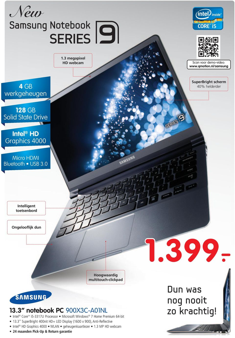 3 notebook PC 900X3C-A01NL Intel Core TM i5-3317u Processor Microsoft Windows 7 Home Premium 64-bit 13.