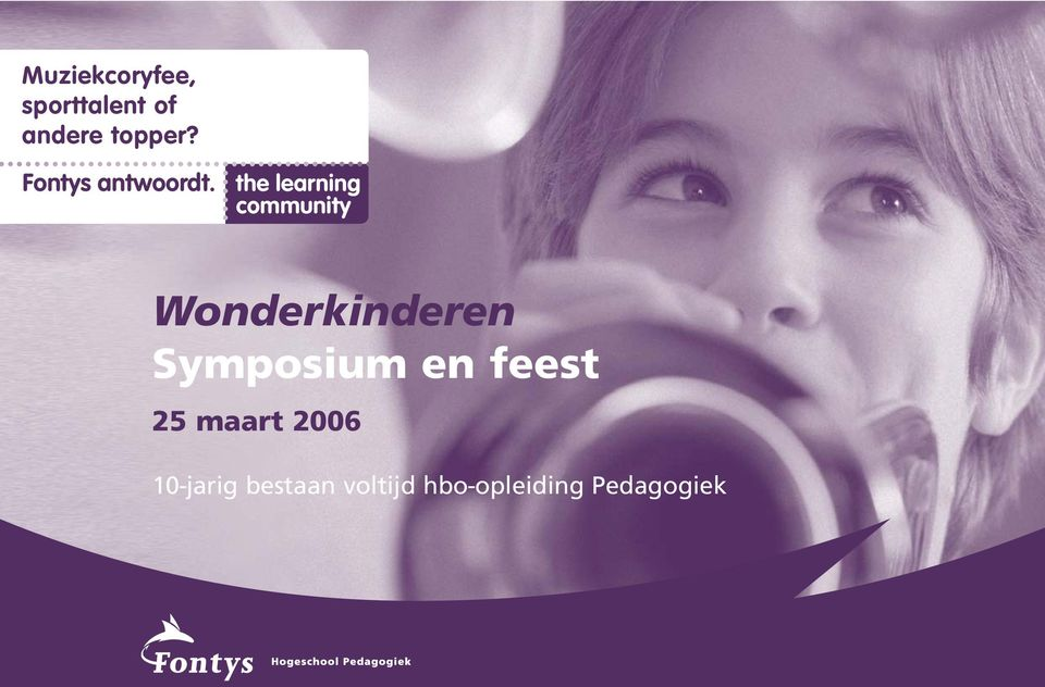 the learning community Wonderkinderen